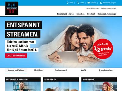 Bildschirmfoto für netcologne.de
