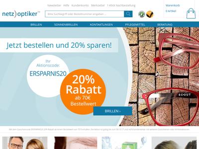 Bildschirmfoto für netzoptiker.de