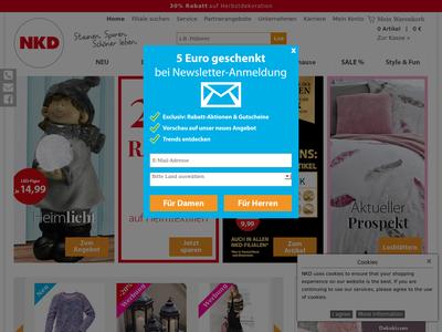 Bildschirmfoto für NKD