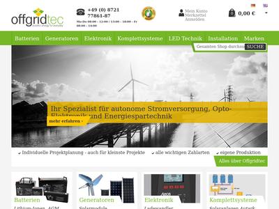 Bildschirmfoto für Offgridtec