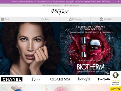 Bildschirmfoto für Parfümerie Pieper