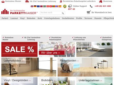 Bildschirmfoto für parkettkaiser.de