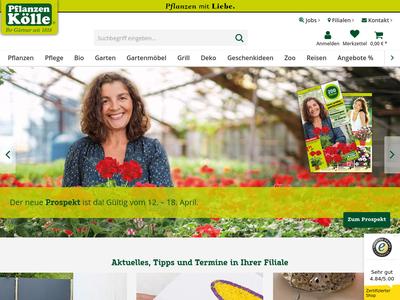 Bildschirmfoto für Pflanzen-Kölle