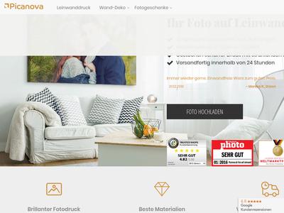 Bildschirmfoto für Picanova