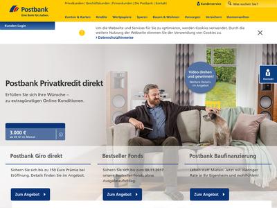 Bildschirmfoto für Postbank