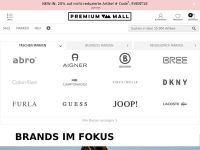 Bildschirmfoto für PREMIUM-MALL