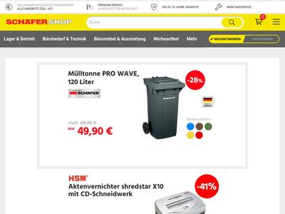 Bildschirmfoto für schaefer-shop.de