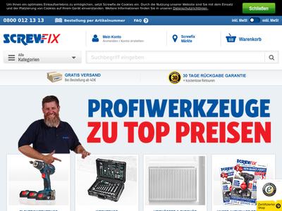 Bildschirmfoto für Screwfix