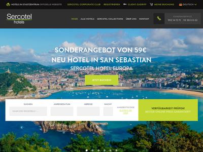 Bildschirmfoto für Sercotel Hotels