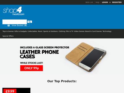 Bildschirmfoto für shop4world.com