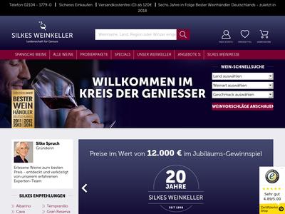 Bildschirmfoto für silkes-weinkeller.de