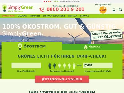 Bildschirmfoto für simplygreen.de