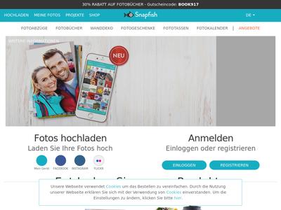 Bildschirmfoto für Snapfish