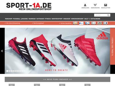 Bildschirmfoto für sport-1a.de
