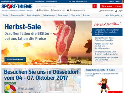 Bildschirmfoto für Sport-Thieme