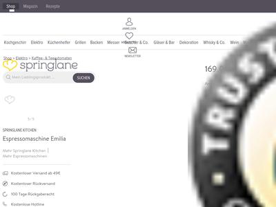 Bildschirmfoto für Springlane