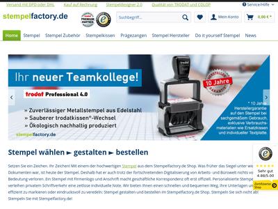 Bildschirmfoto für stempelfactory.de