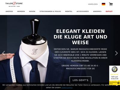 Bildschirmfoto für tailorstore.de