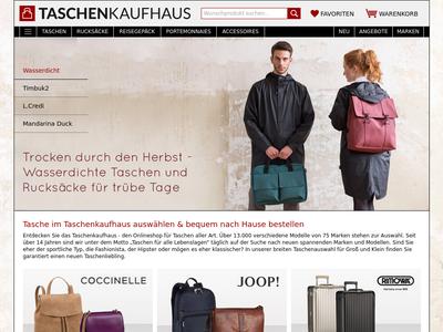 Bildschirmfoto für taschenkaufhaus.de