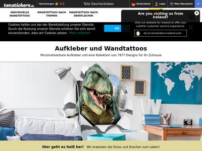 Bildschirmfoto für tenstickers.de