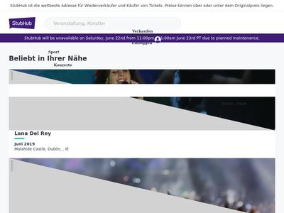 Bildschirmfoto für ticketbis.de