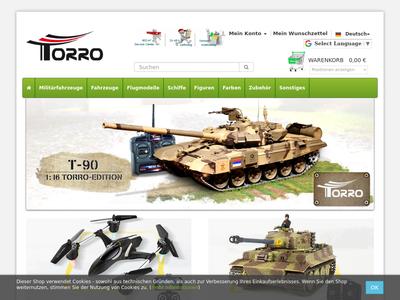 Bildschirmfoto für Torro Shop