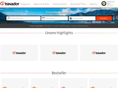 Bildschirmfoto für Travador