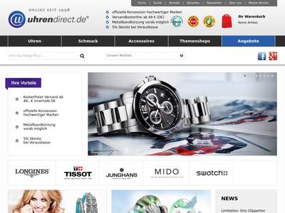 Bildschirmfoto für uhrendirect.de
