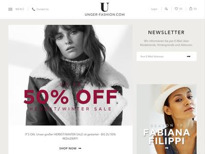 Bildschirmfoto für unger-fashion.com