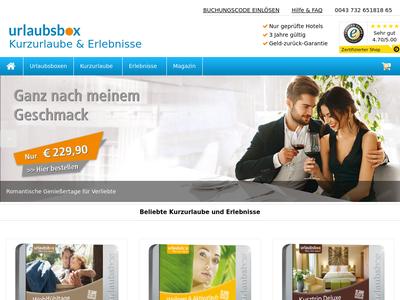 Bildschirmfoto für urlaubsbox.com