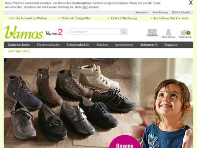 Bildschirmfoto für Vamos Schuhe