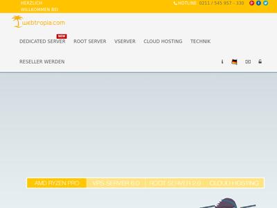 Bildschirmfoto für webtropia.com