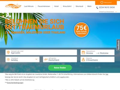 Bildschirmfoto für weg.de