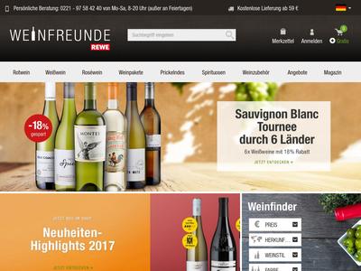 Bildschirmfoto für Weinfreunde.de