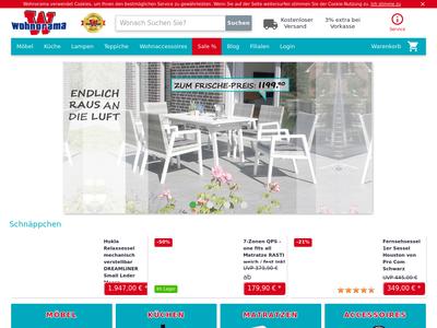 Bildschirmfoto für wohnorama.de