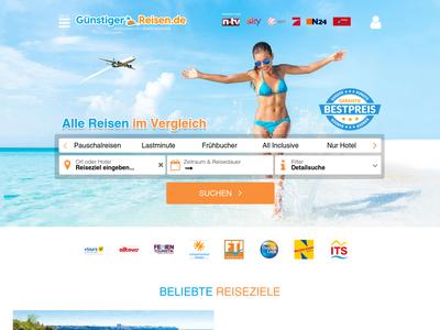 Bildschirmfoto für Günstiger-Reisen.de