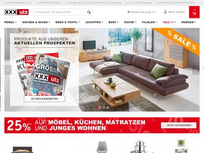 Bildschirmfoto für XXXL Mein Möbelhaus