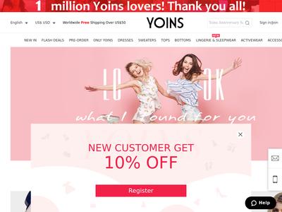 Bildschirmfoto für YOINS