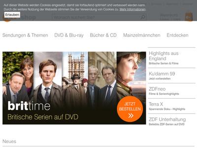 Bildschirmfoto für ZDF Shop