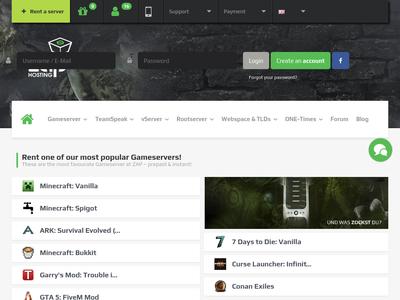 Bildschirmfoto für Zap-Hosting.com