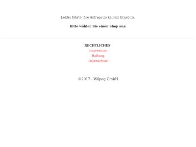Bildschirmfoto für wilpeg.de