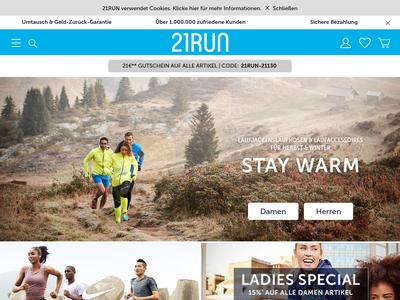 Bildschirmfoto für 21run.com