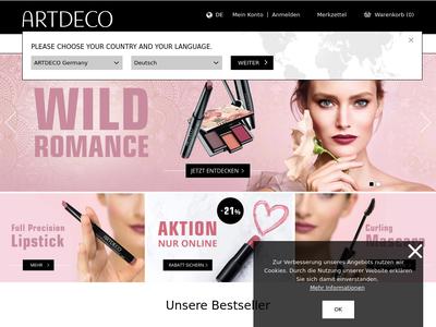 Bildschirmfoto für artdeco.de