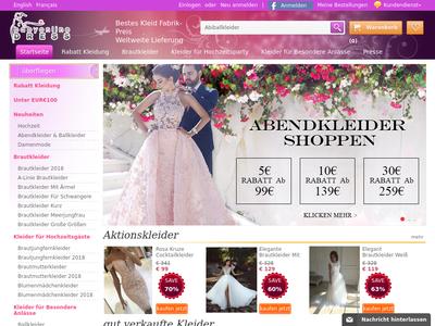 Bildschirmfoto für Babyonlinedress.de