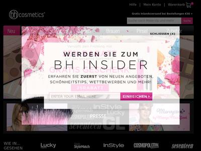 Bildschirmfoto für BH Cosmetics