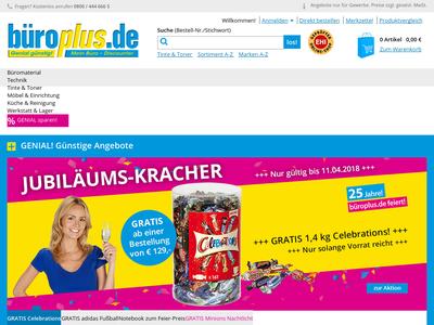 Bildschirmfoto für bueroplus.de