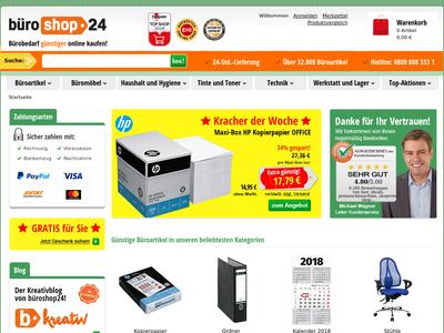 Bildschirmfoto für büroshop24