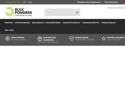 Bildschirmfoto für Bulk Powders