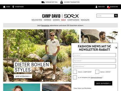 Bildschirmfoto für campdavid-soccx.de