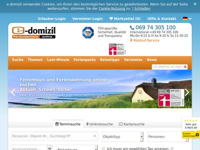 Bildschirmfoto für e-domizil